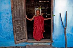 Young Monk in Doorway, Monyuwa, Myanmar 2007