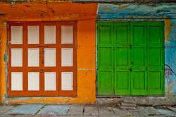 Orange Building and Green Doors, Yangon 2010