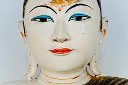 Buddha Face, Shwedagon Pagoda, Yangon 2007