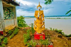 Nat Figure overlooking the Ayeyarwady River north of Pyay, Myanmar 2008