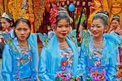 Young Burmese Women, Shinbyu Ceremony, Inwa (Ava), Myanmar 2007