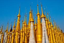 Pagodas, Indein, Inle Lake, Myanmar 2009