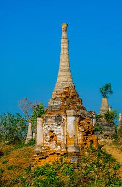 Ancient Brick Pagodas, Indein, Inle Lake, Myanmar 2009