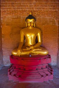 Sitting Buddha, Bagan, Myanmar 2007-3