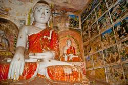 Buddha, Hpo Win Daung Caves, near Monywa, Myanmar 2007