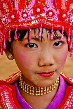 Young Burmese Girl, Shinbyu Ceremony, Inwa (Ava), Myanmar 2007