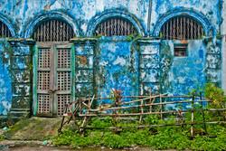 Blue Building Exterior, Yangon 2008