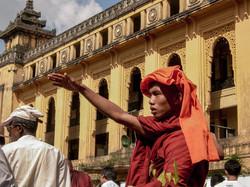 Monk, September 2007 Demonstrations, Yangon 2007-2