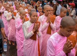 Buddhist Nuns, September 2007 Demonstrations, Yangon 2007-2