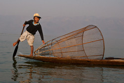 Boy Fishing, Inle Lake, Myanmar 2009