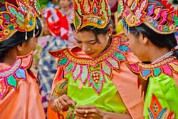 Young Burmese Women, Shinbyu Ceremony, Inwa (Ava), Myanmar 2007-2