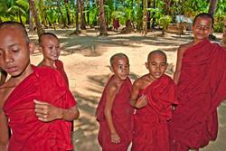 Young Monks at Monastery, Ngapali Beach, Myanmar 2008