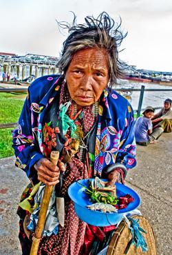 Woman Begger, Yangon 2007