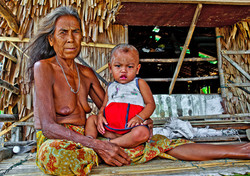 Woman and Child, Salone Village, Myeik Archipelago, Myanmar 2008