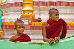 Young Monks, near Pyay, Myanmar 2008