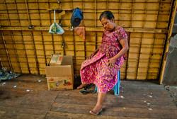 Sleeping Woman, Yangon 2010