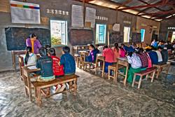 School Building, near Kyaing Taung, Myanmar 2008