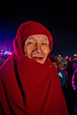 Monk at Balloon Festival, Taunggyi, Myanmar 2008