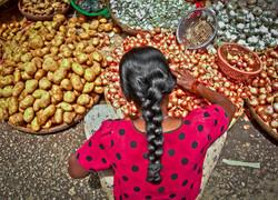 Woman Vendor in Market, Yangon 2007