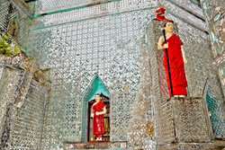 Monk Statues, Sein Yong Chi Pagoda, Yangon 2007