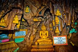 Golden Buddhas, Htat Sann Cave, Taunggyi, Myanmar 2008