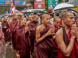 Buddhist Monks, September 2007 Demonstrations, Yangon 2007-3