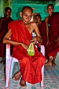 Head Monk at Monastery, near Yangon 2009
