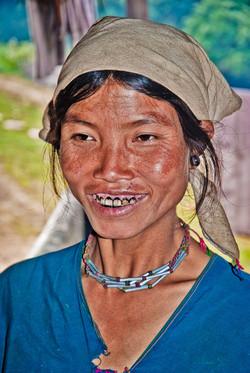 Young Lahu Shi Woman, near Kyaing Taung, Myanmar 2008