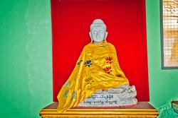 Draped Buddha, Sule Pagoda, Yangon, Myanmar 2010