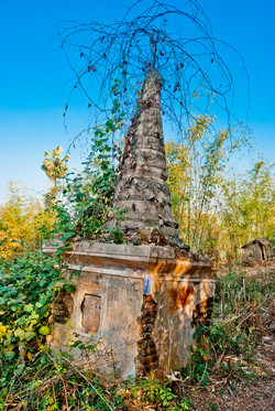 Tilting Pagoda, Indein, Inle Lake, Myanmar 2009