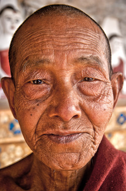 Elder Monk Who Lives in a Cave, near Naung Shwe, Inle Lake, Myanmar 2010