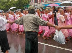 Buddhist Nuns, September 2007 Demonstrations, Yangon 2007-3