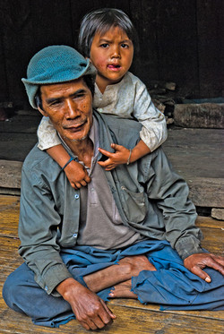 Man and Boy, near Kyaing Taung, Myanmar 2008