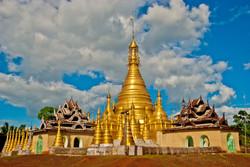 Pagoda, near Kakku, Myanmar 2009
