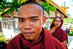 Monks in Monastery, near Yangon 2009-3