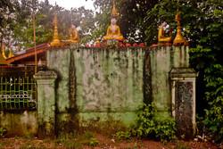 Pagoda Wall, Yangon 2009