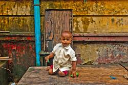 Boy Playing, Yangon 2008