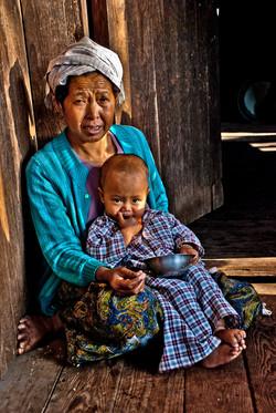 Grandmother and Child, near Kalaw, Myanmar 2007
