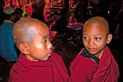 Young Monks at Balloon Festival, Taunggyi, Myanmar 2009