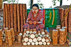 Woman Selling Thanaka, Pyay, Myanmar 2008