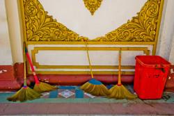 Brooms & Trashcan, Yangon 2008