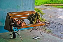 Sleeping Man, Yangon 2009