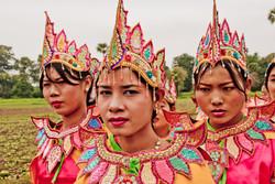 Young Women at Shinbyu Procession, Inwa (Ava), Myanmar 2007