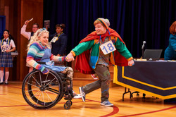 Ali Stroker as Olive and Lee as Leaf Coneybear in the 25th Annual Putnam County Spelling Bee