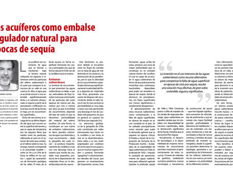 Los acuíferos como embalse regulador natural para épocas de sequía