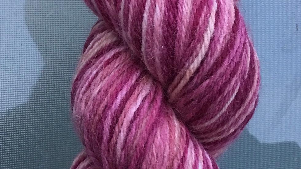 'Winter Roses' Hand Spun Yarn