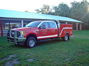 Adams Squad 1-7-2 is a 2017 Ford F-250. This was Purchased by the members of the Adams Fire Departments Corporation. This was purchased thru Bingo and other fund raisers the department held.
