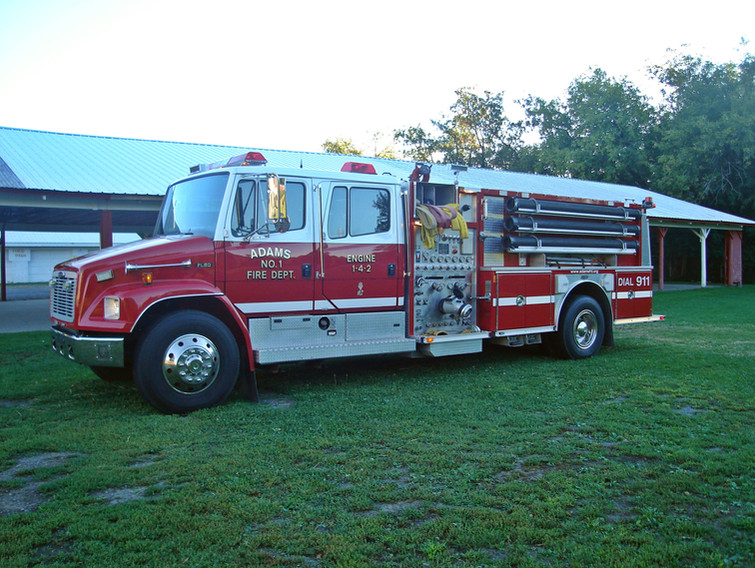 ADAMS ENGINE 1-4-2, 2003 Freightliner/Emergency One 1,500 GPM Pump, 1,000 GALLON WATER TANK