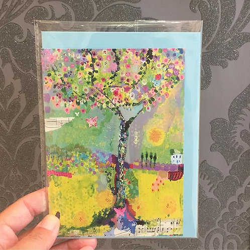 """A6 """"Happiness Tree"""" card"""