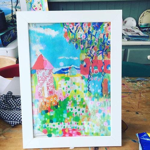 """Henhouse"" A3 framed print"